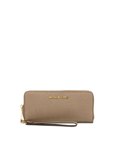 Jet Set Travel Continental Wallet, Dark Dune