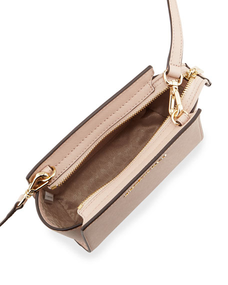 Selma Mini Saffiano Messenger Bag, Ballet