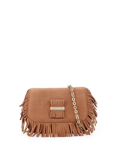 Rosita Mini Chain Pochette Bag, Nougat