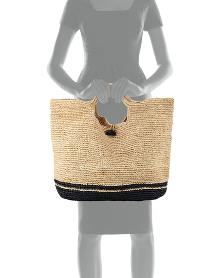 Vitamin A Large Straw Beach Bag