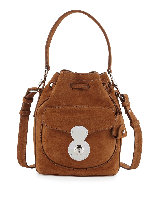 dc77c4d57676 Ralph Lauren Ricky Small Suede Bucket Bag
