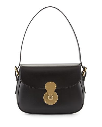 Ricky Medium Cartridge Bag, Black/Brass