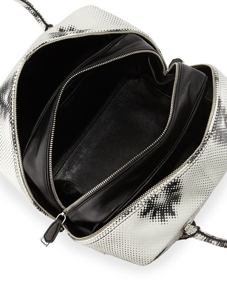 Python Eyes Inside Bag, White/Black (Bianco+Nero)
