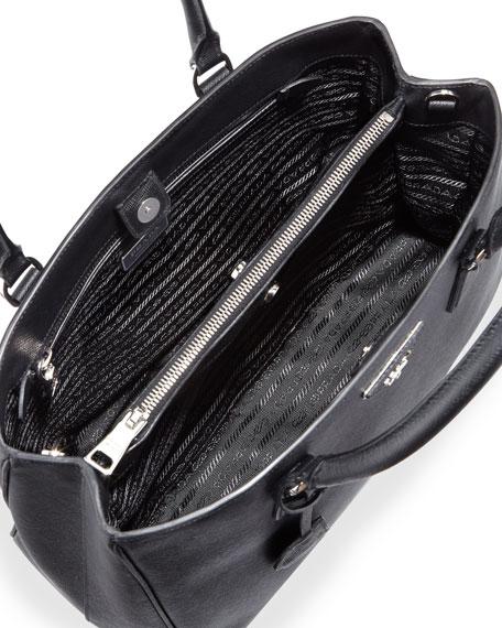 Saffiano Small Gardener's Tote Bag, Black (Nero)