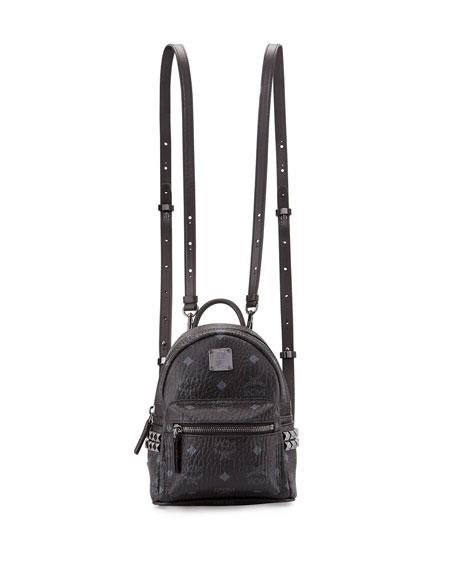 MCM Stark Side-Stud X-Mini Backpack, Black