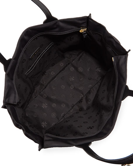 Tory Burch Ella Packable Nylon Tote Bag, Black 92c5769912