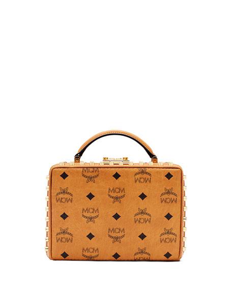MCMBerlin Crossbody Small Visetos Bag, Cognac
