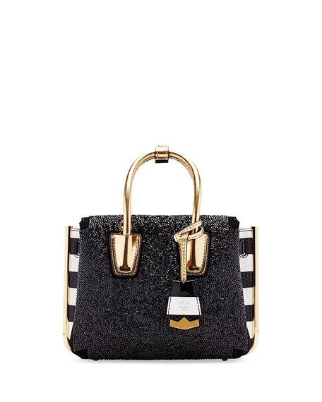 MCM Milla Special Embellished Mini Tote Bag