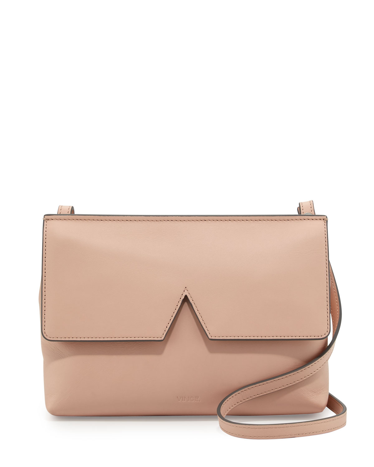 Signature V Leather Baby Crossbody Bag Blush