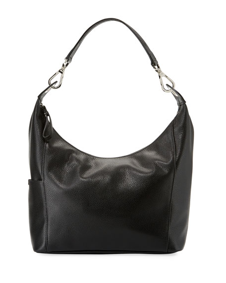Longchamp Le Foulonne Small Hobo Bag, Black