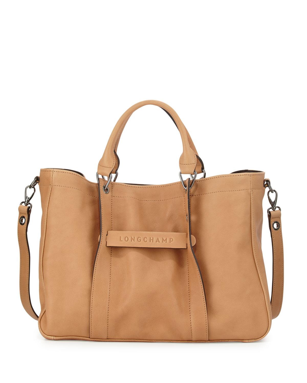 Longchamp Longchamp 3D Medium Tote Bag, Nude   Neiman Marcus 92c8581cbc