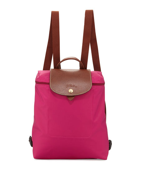 Longchamp Le Pliage Nylon Backpack, Cyclamen