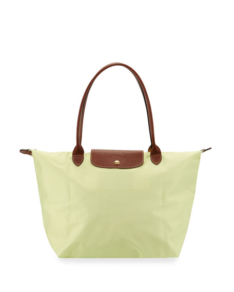 Longchamp Le Pliage Large Shoulder Tote Bag, Anise