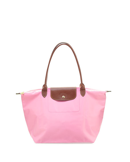 Longchamp Le Pliage Large Shoulder Tote Bag, Pink