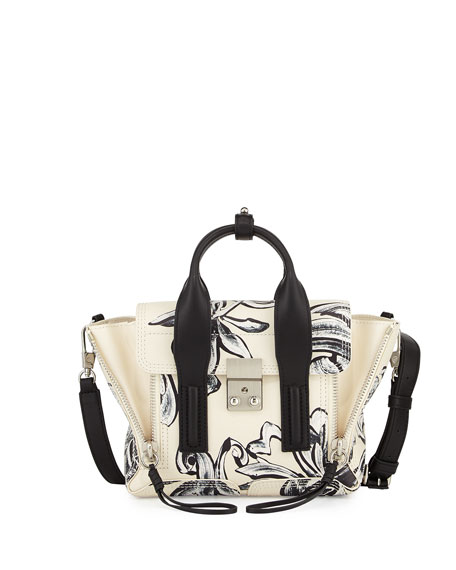 3.1 Phillip Lim Pashli Mini Floral-Print Satchel Bag,