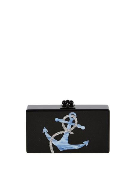 Jean Anchor Clutch Bag, Obsidian/Sand