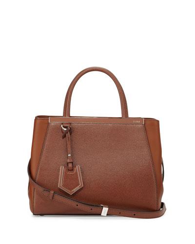 2Jours Petite Satchel Bag, Walnut/Cognac