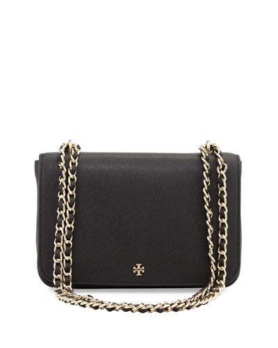 Robinson Saffiano Leather Shoulder Bag, Black