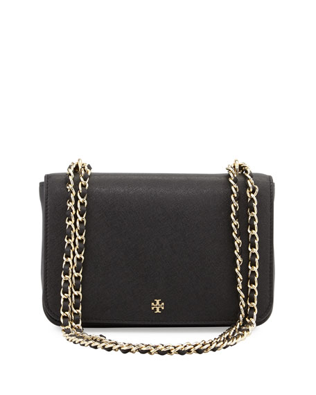 Tory Burch Robinson Saffiano Leather Shoulder Bag, Black