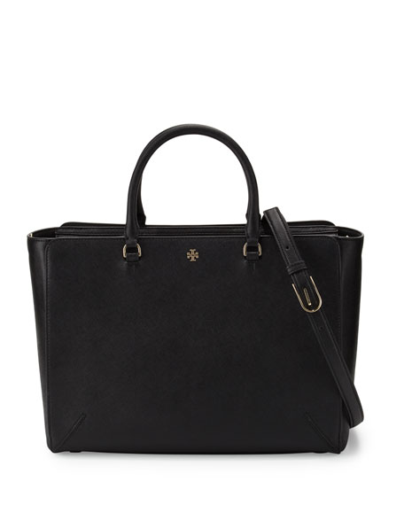 Robinson Large Zip-Top Tote Bag, Black