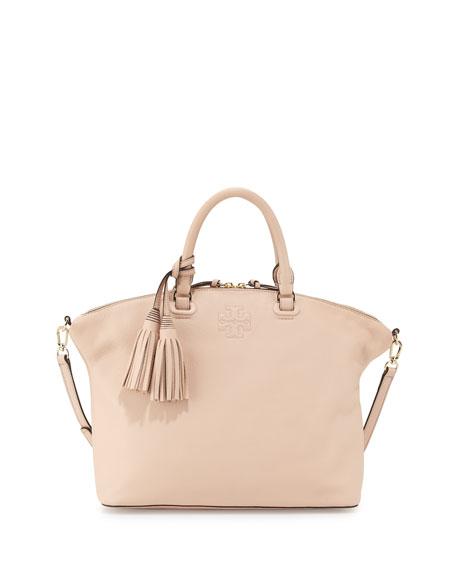 Tory BurchThea Medium Slouchy Leather Satchel Bag, Pale