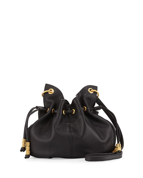 SJP by Sarah Jessica Parker Patchin Leather Bucket Bag, Noir
