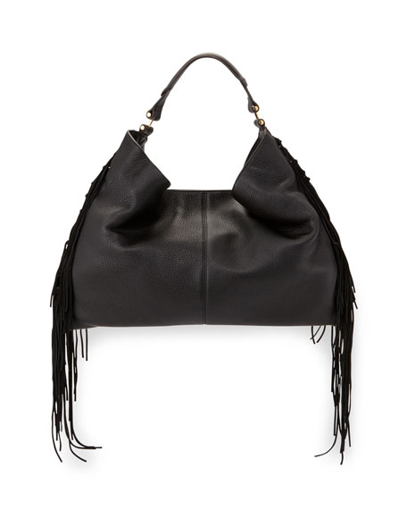 Rebecca Minkoff Heavy Laced Oversized Hobo Bag, Black