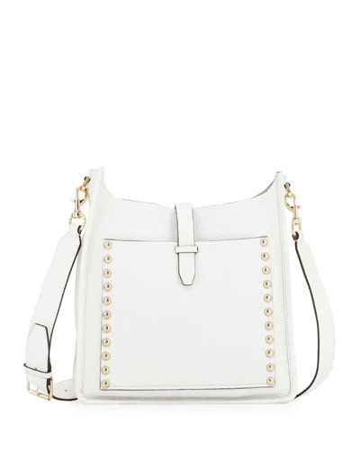 Unlined Leather Feed Bag, White