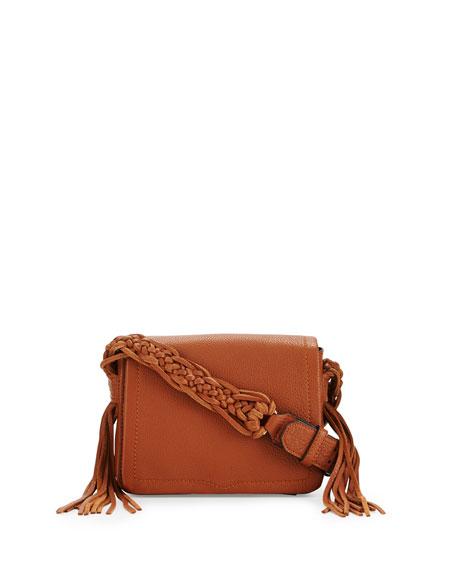 Rebecca Minkoff Wendy Small Leather Crossbody Bag, Almond