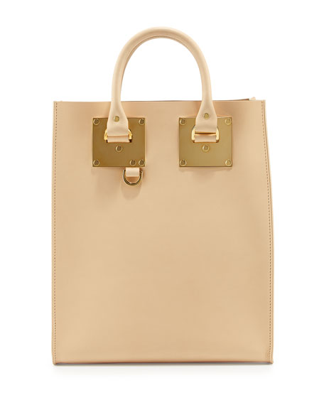 Sophie Hulme Albion Mini North-South Tote Bag, Nude