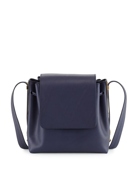 Sophie Hulme Claremont Leather Crossbody Bag, French Navy