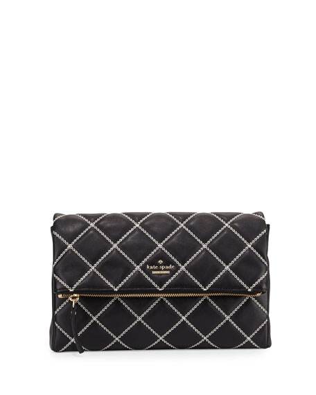 emerson place marsala quilted crossbody bag, black cement