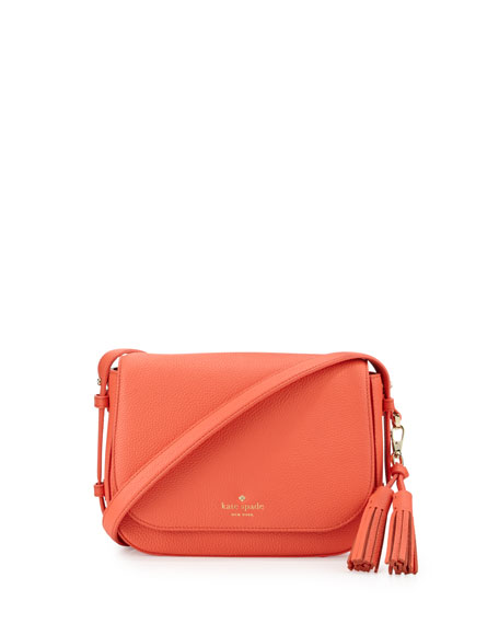 orchard street penelope crossbody bag, bright papaya