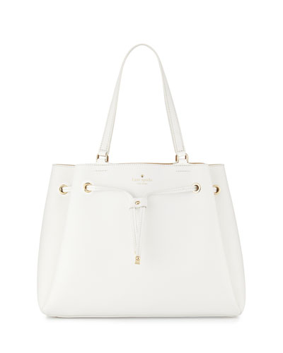 cape drive lynnie tote bag, bright white/porcelain