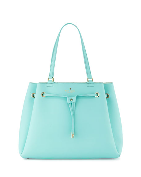 cape drive lynnie tote bag, soft aqua/mint