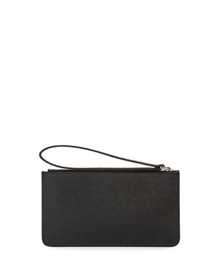Karlito Flat Pouch Bag, Black