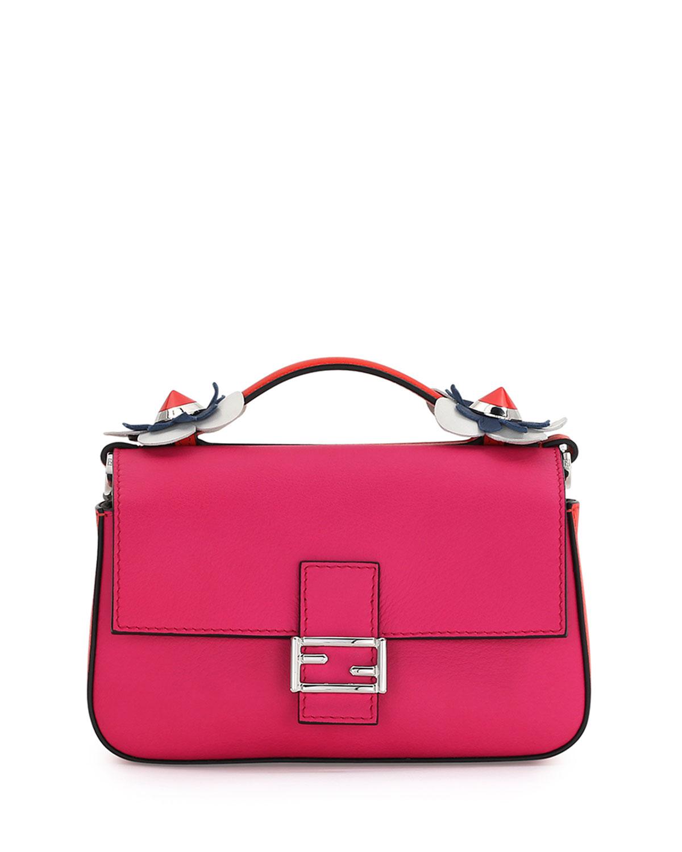 7b01d170ff01 Fendi Baguette Micro Double-Sided Tricolor Bag