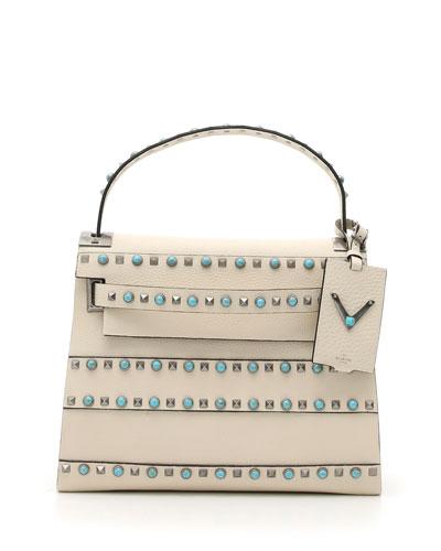 My Rockstud Rolling Small Shoulder Bag, Ivory