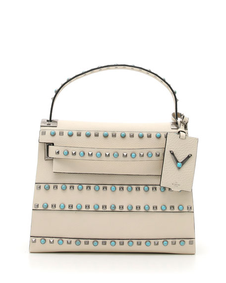 Valentino My Rockstud Rolling Small Shoulder Bag, Ivory