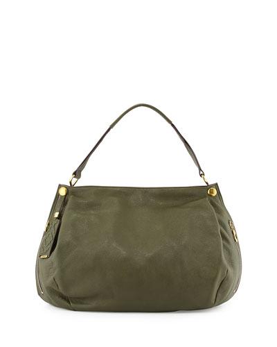 Kerry Leather Shoulder Bag, Forest Green