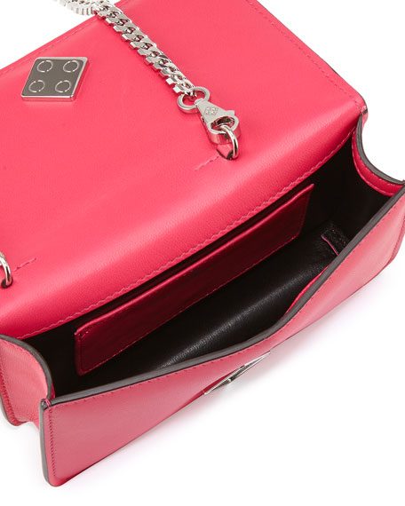 Janis Micro Piano Leather Clutch Bag