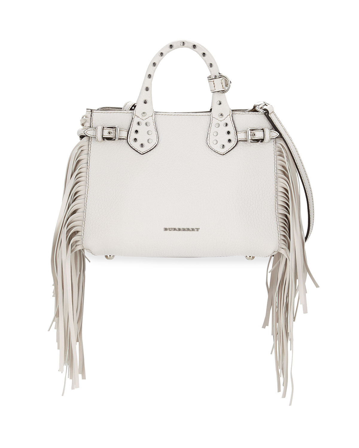 a7c37361cf84 Burberry Baby Banner Studded Tote Bag w Fringe