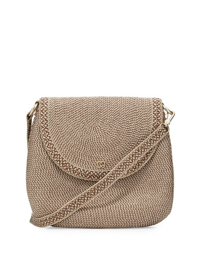 Squishee Demi Pouch Crossbody Bag, Bark