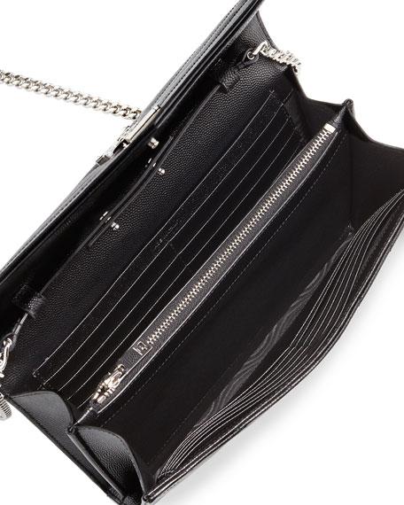 Grain de Poudre Calfskin Wallet-on-Chain, Black