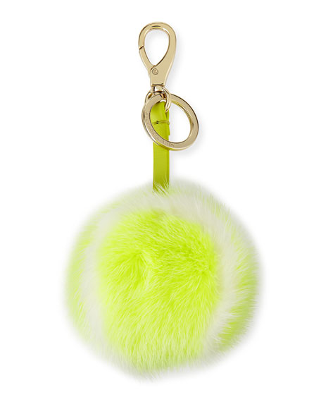 Anya Hindmarch Fur Tennis Ball Charm, Yellow