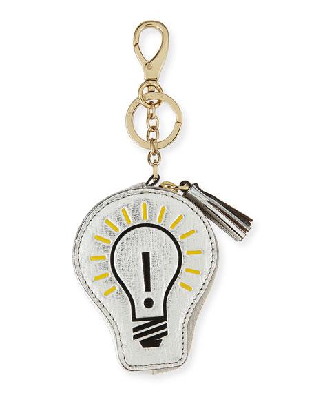 Anya Hindmarch Light Bulb Coin Case, Silver