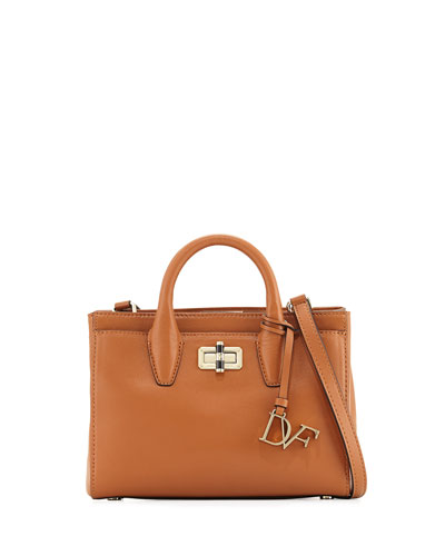 440 Gallery Mini Viviana Leather Tote Bag, Tan