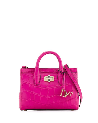 440 Gallery Mini Viviana Embossed Tote Bag, Summer Beet
