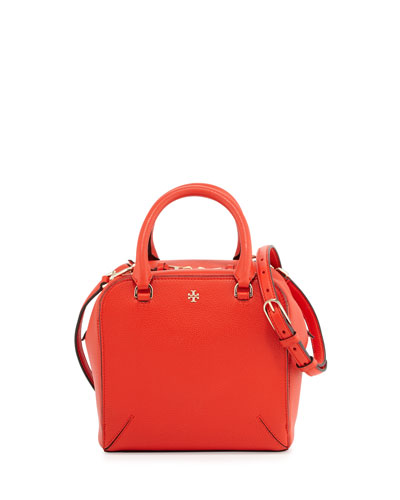 Robinson Pebbled Mini Satchel Bag, Poppy Red