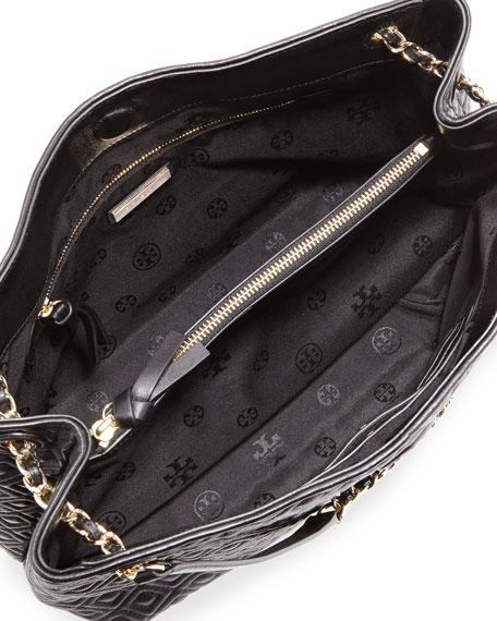 Marion Chain-Strap Shoulder Slouch Bag, Black